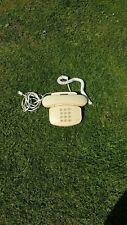 Retro BT Duet 200 Home Corded Telephone, White/Cream, (working)
