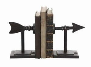 Arrow Bookends Western Cast Iron Black Home Decor Southwestern Rustic Decor New