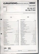 Service Manual Grundig Videorecorder VS740VPT VS740FT/NIC TOP!