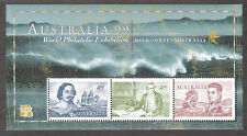 Australia Philatelic '99 1727e 1728e A99 Perfin Margin Souvenir Sheet Mint Nh