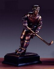 Hockey Player 7 x 13.5 Beautiful Bronze Statue / Sculpture Brand New