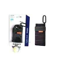 Sony LCS-CSZ/B  Sock-like Case Striped  Soft Carrying Case LCSCSZ Black
