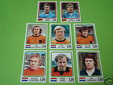 Panini coupe du monde 74 1974 8 x extra sticker Allemagne Holland