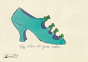 Postkarte: Andy Warhol - Schuh