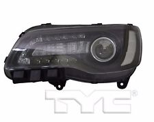 TYC NSF Left Side Halogen Headlight For Chrysler 300 Black 2015-2016 Models