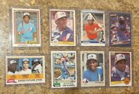 (8) Tim Raines 1981 1982 1983 Topps Donruss Fleer Rookie 2nd Card Lot RC Expos