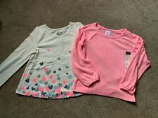 2 NWT Toddler Girls Long Sleeve Tops Jumping Beans & Okie Dokie - 4T
