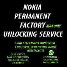 NOKIA MICROSOFT LUMIA 520 635 640 640 XL 650 UNLOCK CODE AT&T ONLY NETWORK PIN