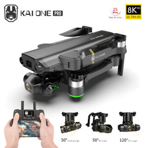 New 8K HD  3-Axis WIFI FPV Professional Anti-Shake Foldable Drone RC Quadcopter
