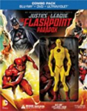 JUSTICE LEAGUE THE FLASHPOINT PARADOX BLU RAY DVD + BEST BUY EXCLUSIVE FIGURINE