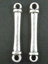 80pcs Tibetan Silver Nice Smooth Bar Connectors 31.5x5mm 11