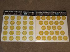 ELVIS  WORLDWIDE GOLD AWARD HITS PARTS 1&2 3&4 COMPLETE SET SEALED EXCELLENT
