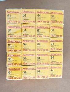 20 ROLLS 1996 FULL BRICK KODACHROME 64 FILM 35MM REFRIGERATED 25 YEARS