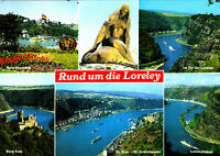Rund um die Loreley ; Ansichtskarte gel.