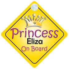 Princesse Eliza à bord signe de voiture de Fille Enfant / bébé / cadeau présent 002