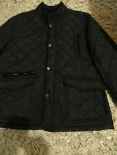 MENS BLACK QUILTED JACKET SIZE XL BY MAINE DEBENHAMS