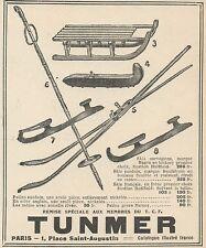 Z8800 TUNMER tout pour le Ski - Pubblicità d'epoca - 1925 Old advertising