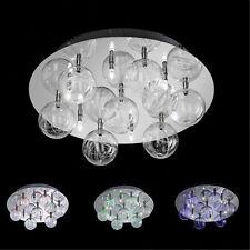 WOFI lámpara LED de techo Center Cromo Vidrio Bola Control remoto RGB Lámpara