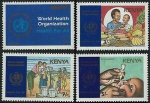 Kenya 1988 MNH 4v, WHO, 40th Ann., Nutrition, Immunization, Medicine