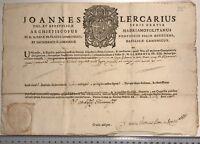 Autentica Reliquia Joannes Lercarisu Roma documento 1765