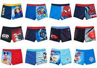 Boys Kids Character Cars Mickey Spiderman Swim Shorts Swimming Trunks 2-8 years