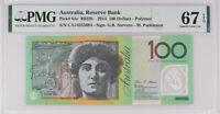 AUSTRALIA 100 DOLLARS 2014 P 61 e SUPERB GEM UNC PMG 67 EPQ