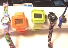 5 WATCHES Kids Silicone Lucky Dingbats Perennial Bear Band Big Face LCD Lot #10