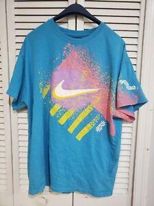 Nike Swoosh Kyrie Irving 1992 Logo Colorful Men's T-Shirt Size XL