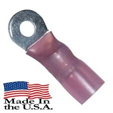 8 AWG 3M HEAT SHRINK RING TERMINALS #10 STUD SIZE ELECTRICAL Qty-10