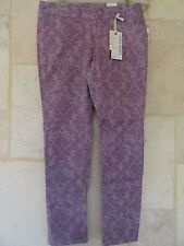 American Rag Pink Printed Supper Skinny Casual Day Pants Jeans Sz 1 short NWT