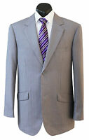 NEW MENS GREY SELF STRIPE POLY WOOL FORMAL BUSINESS SUIT & TROUSERS