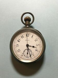 Vintage AGASSIZ Swiss Pocket Watch *STILL WORKING, RUNS GREAT* sn #87207