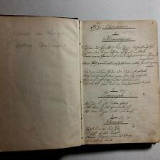 Handgeschriebenes Buch mit Charaden um 1800 - Clessin von Königsklee / Waldsee