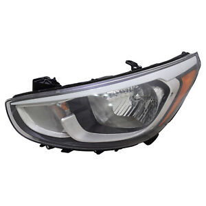 Driver Side Standard Type Headlight For 2015-2017 Hyundai Accent