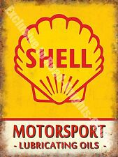 Vintage Garage Motor Racing Oil Petrol Old Advertising Large Metal Tin Sign