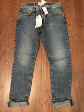 NWT Current Elliott Cropped Jeans Boyfriend Fit Size 24