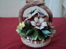 "Vintage Capodimonte flower basket  rare  Italy Italian Pottery sold as-is 8""x 6"""