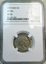 1919 Buffalo nickel NGC VF25 *VP 001 DDO SCARCE!!* BR