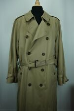 Brooks Brothers Business Trench Coat 100% Cotton Dress Belted Jacket Sz 44L