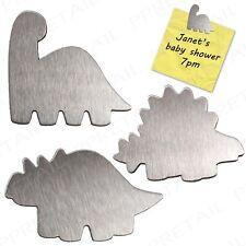 3x KIDS MAGNETIC DINOSAUR FRIDGE MAGNETS Memo Drawing Art Note Photo Holder Clip