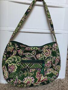 Vera Bradley Chelsea Green Paisley Hobo Shoulder Bag Handbag Retired Purse