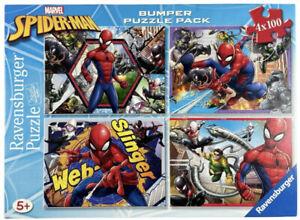 Ravensburger Marvel Spider-Man Bumper Puzzle Pack 4 x 100 Piece Jigsaw Puzzle