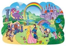 Jigsaw 2 sided child's educational floor puzzle Enchanted Kingdom 46 pieces NEW