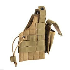 modular pistol holster molle coyote ambidextrous left or right rothco 10479