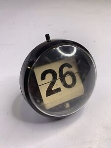 Vintage Plastic Space Age Perpetual Flip Desk Calendar 1960s 1970s Spherical MCM