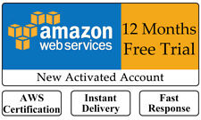 Amazon Web Services AWS Free Trial EC2 VPS 12 months Free Tier Activated Account