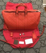 NEW WITH TAGS 100% AUTHENTIC LOUIS VUITTON DAMIER INFINI KEEPALL BAG 45 DUFFLE