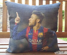 Cotton Linen Cushion Cover Pillow Case Soccer star Brazil Barcelona Neymar D2