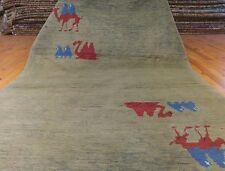 Genuine Vintage 1940-1950s Natural Dyes Wool Pile,Gabbeh Rug 3'9� x 6'