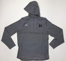 New Under Armour Womens L Notre Dame Fighting Irish Pregame Woven 1/4 Zip Jacket